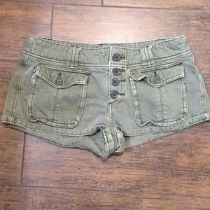Free People Olive Green with Specks Shorts Size 28